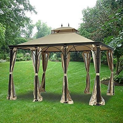 Garden Winds Conjunto toldo y Malla de Repuesto para cenador de Higgins – RipLock: Amazon.es: Jardín