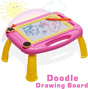 HahaGift Toddler Toys Magna Doodle Drawing Board for Kids Toys Age 1 2 Year Old Girl Toys, Magnetic Writing Sketching Pad Kids Gifts Age 2 3 1 Year Old Boy Gifts for 2 1 Year Old Boys Birthday Gift