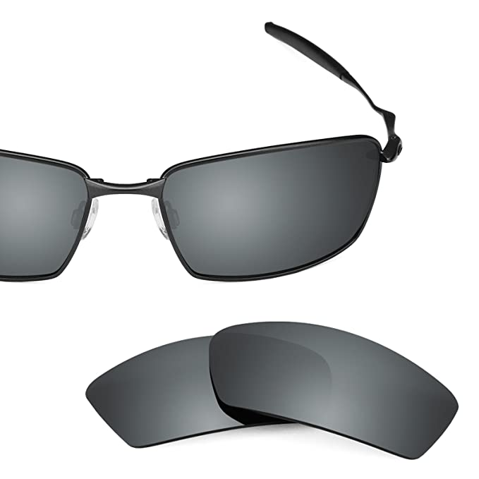 dde77a4af6 Revant Polarized Replacement Lenses for Oakley Square Whisker Black Chrome  MirrorShield
