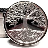 Tree of Life Etched Titanium Grinder - 4 Piece with Pollen Catcher Original Art 2.5' 63mm - Gift Box (Tree of Life)