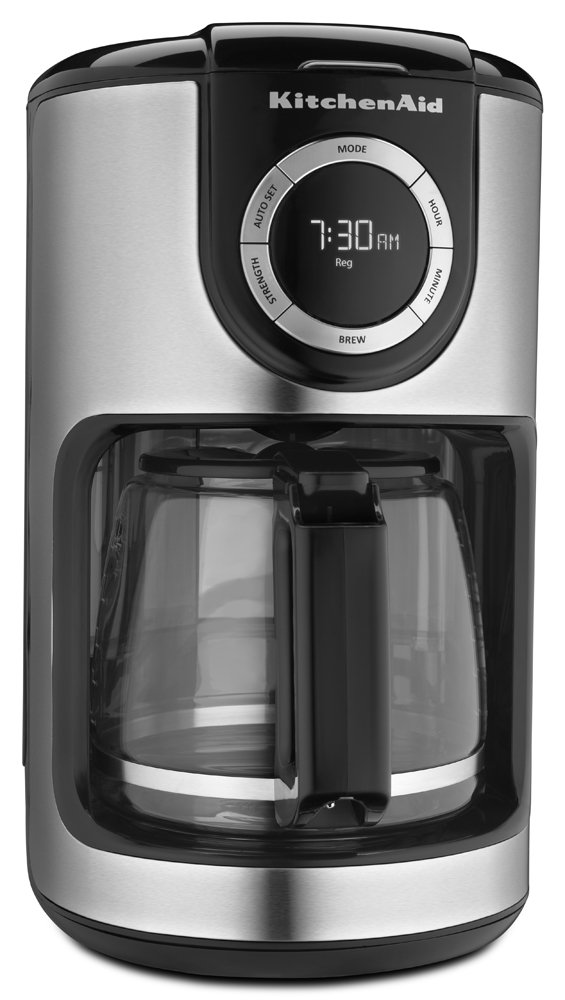 KitchenAid KCM1202OB 12-Cup Glass Carafe Coffee Maker - Onyx Black