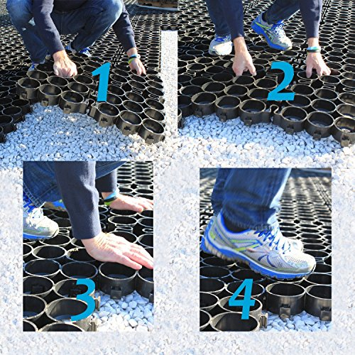 """7 Affordable Landscaping Ideas For Under 1 000: TRUEGRID ECO (1"""" Depth) Permeable Pavers, (DIY"""