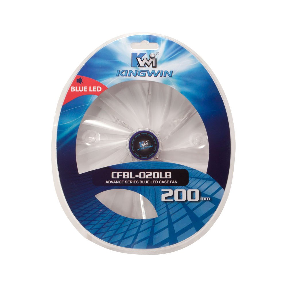 Kingwin 200 x 200 mm Long-Life Bearing LED Case Cooling Fan, CFBL