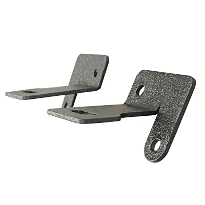 EAG Windshield Hinge Light Mounting Brackets Fit for 87-06 Jeep Wrangler TJ YJ Pair: Automotive
