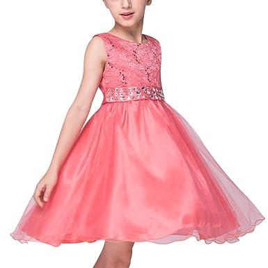 Qitun Kleines Mädchen Sweet Prinzessin Lace Kostüm Blume Hochzeit ...