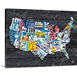 Brittney Hallowell Premium Thick-Wrap Canvas Wall Art Print entitled USA License Plate Map
