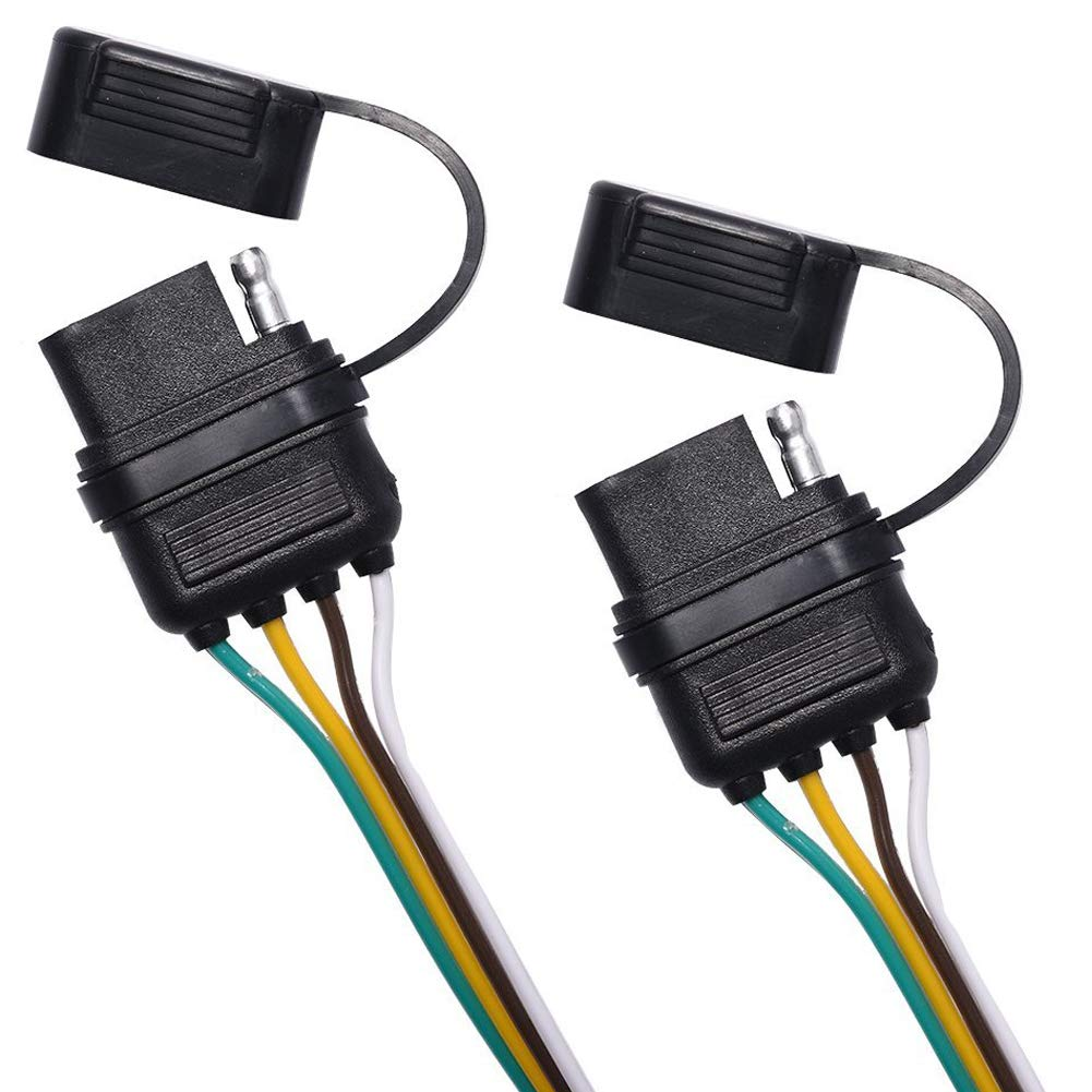 NEW SUN 4 Way Flat Splitter 4 Pin Wiring Harness Rubber Cab ...  Pin Wiring Harness Splitter on