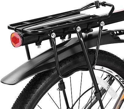 FYLY-75kg de Capacidad Portaequipajes para Bicicleta, Liberación Rápida Rack de Carga de Bicicletas, Aleación de Aluminio Ajustable Portaequipaje Bicicleta Montaña con Reflector: Amazon.es: Deportes y aire libre
