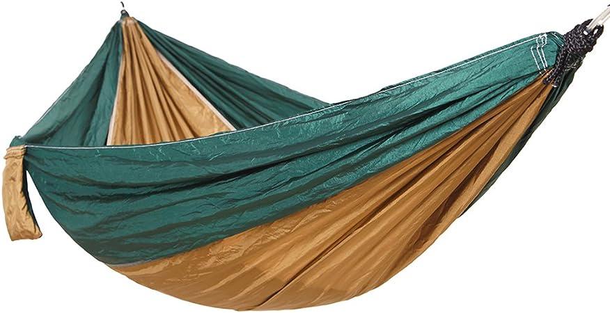 Amaca Giardino per 2 Persone in Stoffa di Paracadute Amaca Matrimoniale per Viaggio// Trekking marrone OUTAD Amaca da Campeggio 210t Nylon 270 /× 135cm Massima portata 350 kg