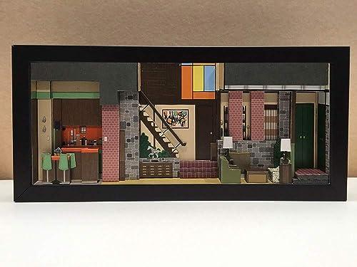 Brady Bunch shadowbox diorama