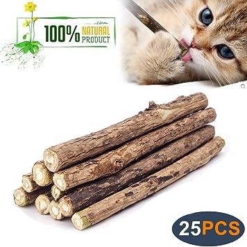Amazon Com Wolover Natural Silvervine Sticks For Cats Catnip
