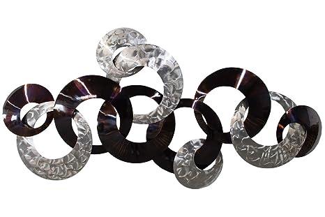 Kunstloft® Extravagante Escultura de Pared de Metal Diálogo ...