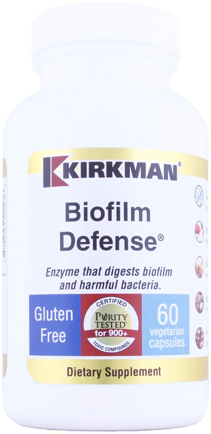 Kirkman Biofilm Defense    60 Vegetarian Capsules    enzymes    Free of  common allergens    Tested