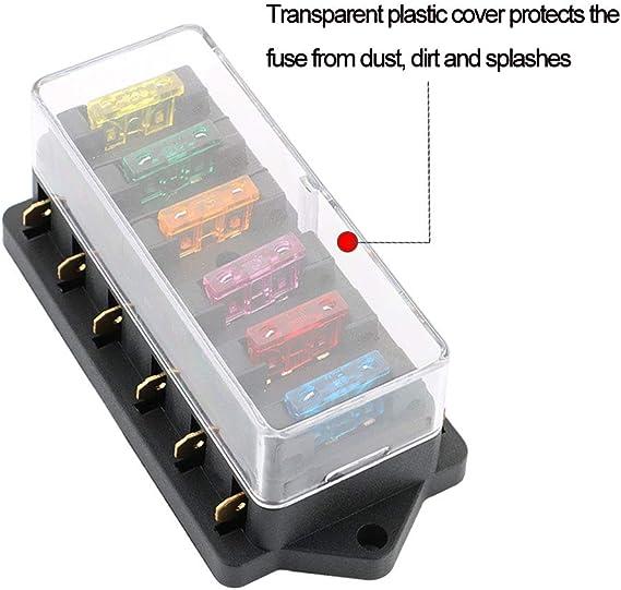 Imperméable 12 V Standard Lame Porte-Fusible Boîte Plastique Clip Housse Voiture Bateau Moteur