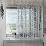 Luxiu Home Mildew Resistant PEVA Semi-transparent Shower Curtain Waterproof/Water-Repellent decorated with frosted circle pattern 47 x 78 inch approx