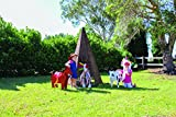 Center Enterprise CEW1101 READY2LEARN Willow Kids Outdoor Teepee Playhouse Play Structure-Wicker