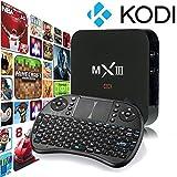 WISEWO MXIII MX3 TV Box Android 4.4 Amlogic S812 2G/8G Quad Core 4K Wifi Google TV Set Top Box Fully Loaded with KODI XBMC Full HD 1080P Smart TV Box Media Player with Wireless Keyboard