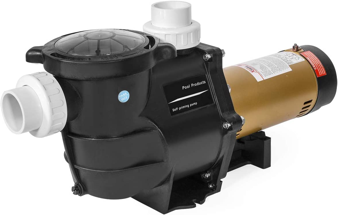 XtremepowerUS 75035-1 2 HP Self Prime in//Above Ground Swimming 2 NPT Fitting ETL Pool Pump Black