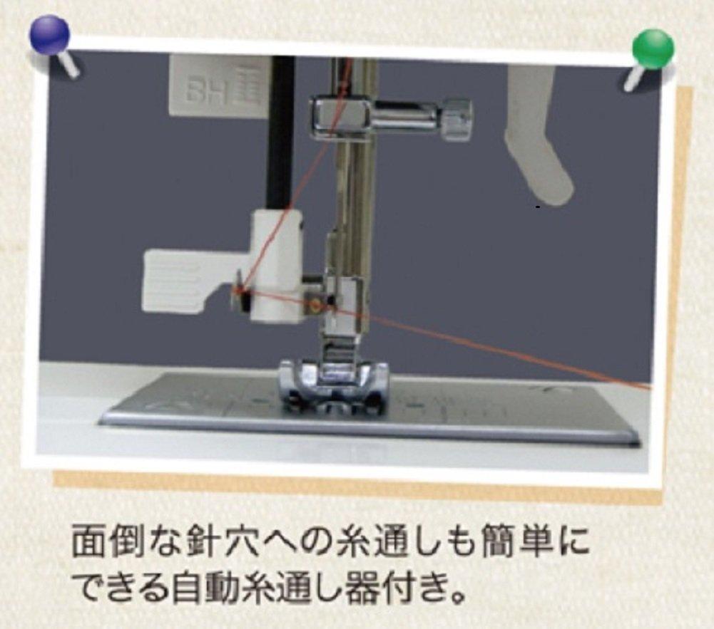 糸と押しも楽々のコンピューターミシン