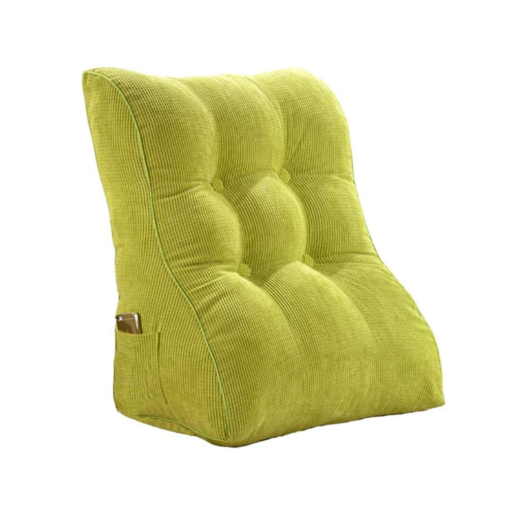 ZHWNGXO Wedge Pillow Reading Backrest Cushion Bed Back Positioning Backrest Support Pillow Bed Sofa Back Reading Office Chair (Color : Green, Size : 55cm) by ZHWNGXOlian