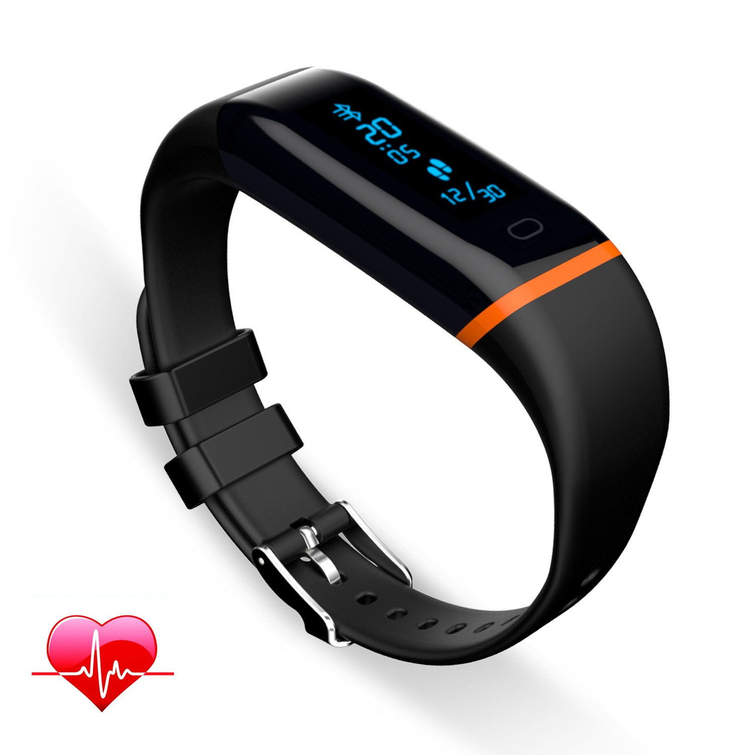 waterproof latest custom silicone screen tracker band cful monitor smart product colorful activity wristband fitness bands bracelet watch rate watches heart
