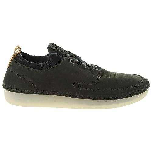 Zapatos de Mujer CLARKS 26129161 Nature IV Black Nubuck: Amazon.es: Zapatos y complementos
