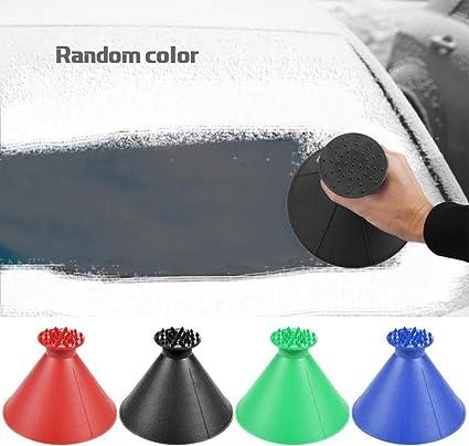 Magical Ice Car Scraper,Windshield 2 in 1 Scrape Scraper Clean Snow Remover Tool Portable Cone Shaped Funnel for Car