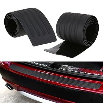 Universal Coche tronco embellecedores Auto goma molduras parachoques de goma trasera guardia placa coche tira protectora car-styling: Amazon.es: Coche y ...