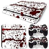 CSBC Skins Sony PS4 Slim Design Foils Faceplate Set - Blood Design