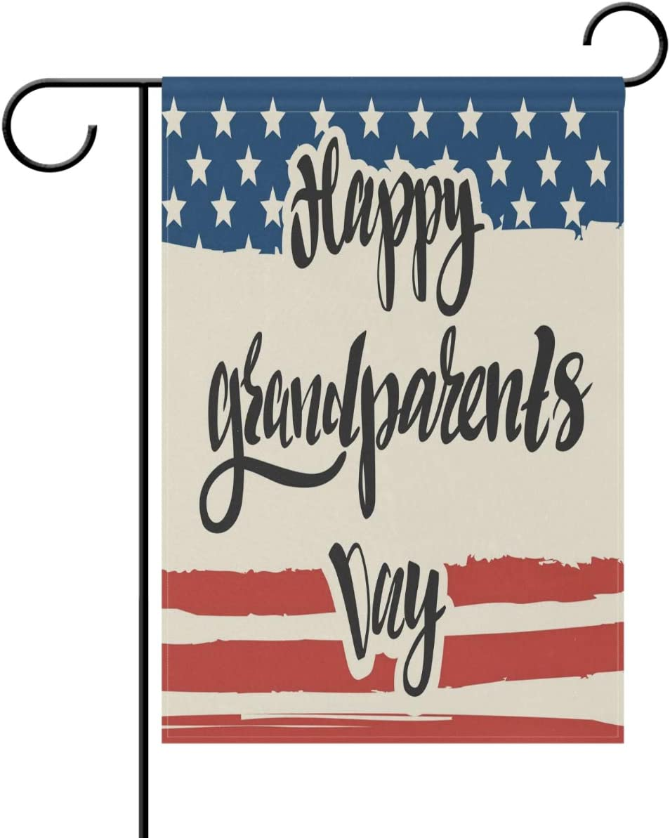 Amazon Com Yochoice Alaza Happy Grandparents Day With Usa Flag Polyester Garden Flag House Banner 28 X 40 Inch Two Sided Welcome Yard Decoration Flag For Wedding Party Home Decor Garden Outdoor