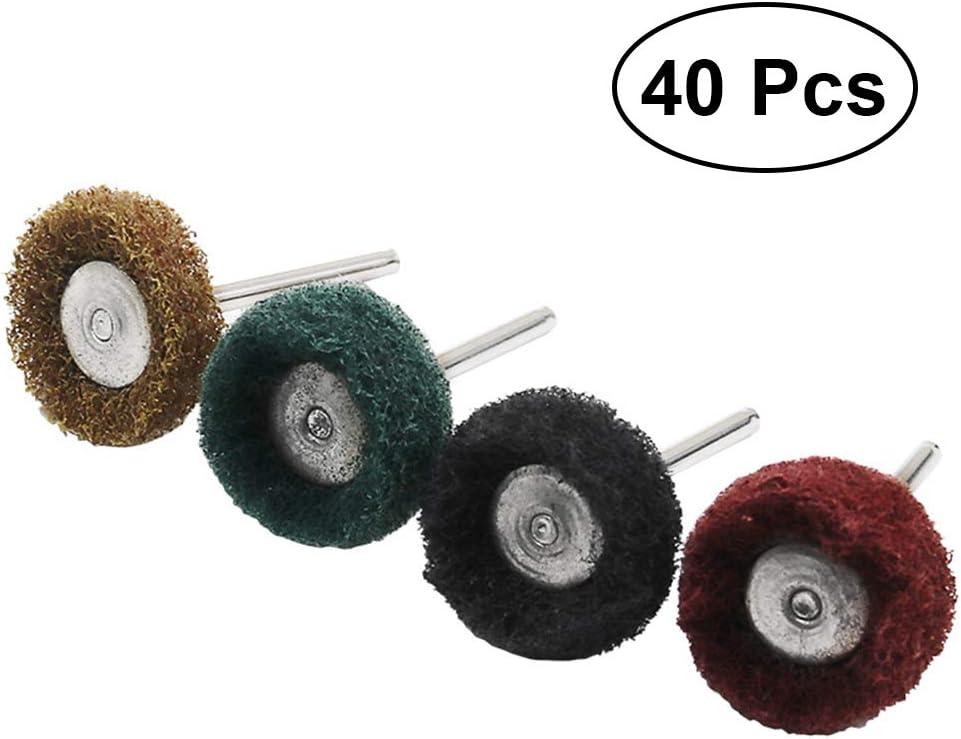 ULTECHNOVO 40 Unids abrasivo rueda de pulido para herramienta de taladro rotativa dremel accesorios reloj de joyería kit de búfer de esmalte 3mm