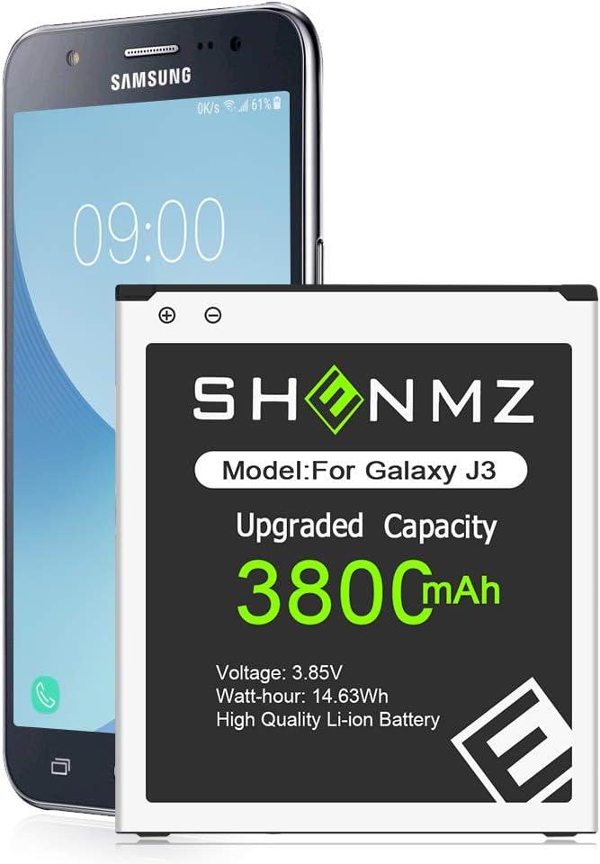 Galaxy J3 Battery,[Upgraded] 3800mAh Li-Polymer EB-BG530BBC Replacement Battery for Samsung Galaxy J3 J320V J320A J320F J320P J327A J327P On5 G550T1 G550T SM-G550F [12 Months Service]