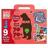 Bear Fruit Yoyos Strawberry Family Pack - 9 x 20g
