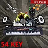 54 Keys Music Electronic Keyboard Kid Electric Piano Organ W/Mic & Adapter 2017