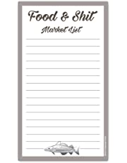 Food & Shit Grocery List Magnetic Groceries Market Pad 4.25 x 7.5, 50-Sheets Funny Gift
