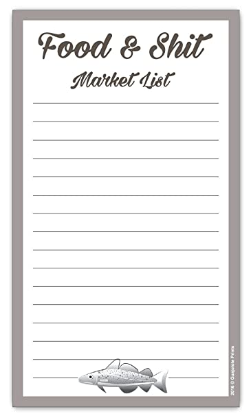 Review Food & Shit Grocery List Magnetic Groceries Market Pad 4.25 x 7.5, 50-Sheets Funny Gift
