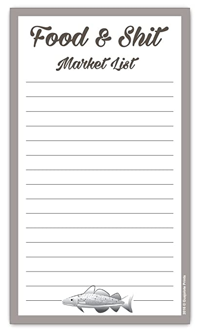 Amazon.com : Food & Shit Grocery List Magnetic Groceries Market Pad ...