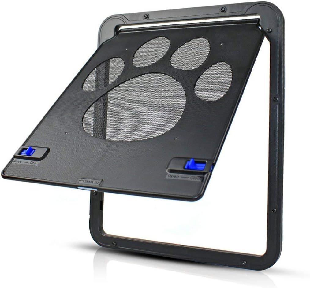 Haolv Aleta de la Aleta del Gato del Perro con gatera Chip para la detección de Chip Puerta Fliegengitter Mascota: Amazon.es: Productos para mascotas
