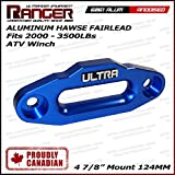 "Ranger Aluminum Hawse Fairlead For 2000-3500 LBs ATV Winch 4 7/8"" (124MM) Mount by Ultranger Glossy (Blue)"