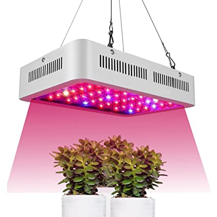 @Luces de siembra 600 W Full Spectrum Led Grow Light para Plantas Flores Veg Veg