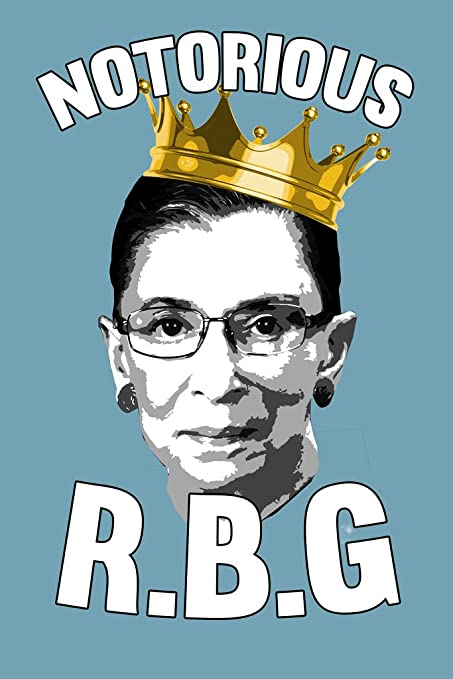 amazon com notorious r b g funny poster 12x18 home kitchen