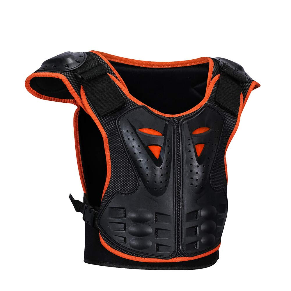 Body Armor Jacket Children's Roller Skating Back Protector Chest Guard Ridge Night Reflective Armor Children Riding Armor Clothing for Adult Motorcycle Riding Chest Armor (Size : M)