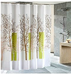 Eforcurtain Tree Pattern Shower Curtain,Waterproof and Mildew-Free Bathroom Curtain