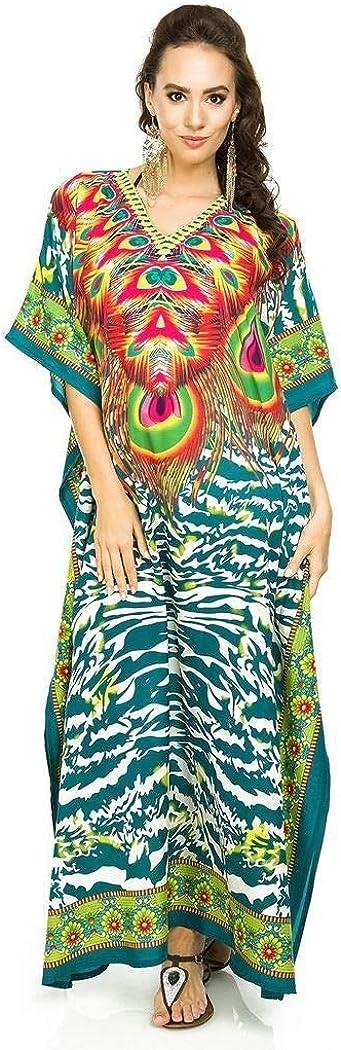 Looking Glam Neuf Femmes Surdimensionn/é Maxi Kimono Tunique Caftan Robe Caftan