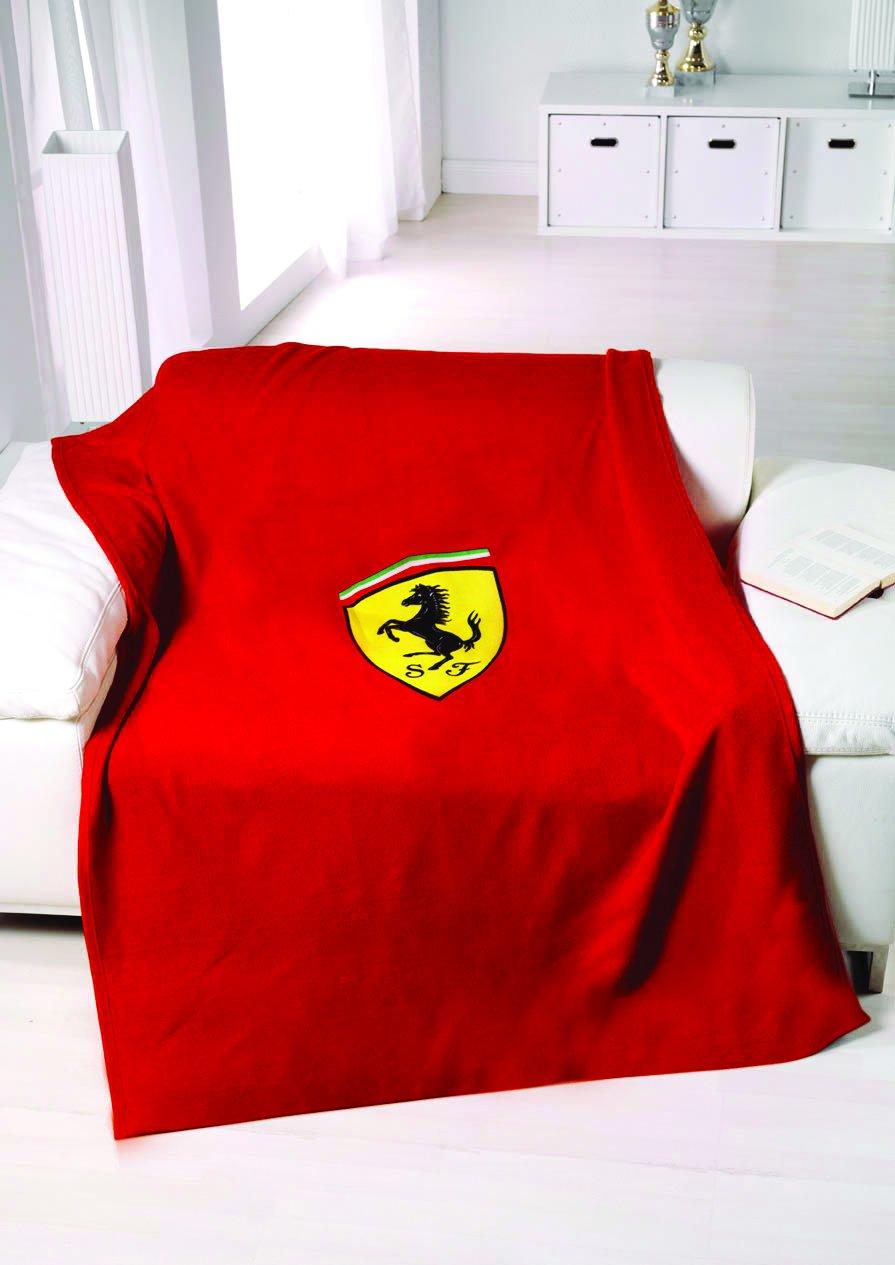 Ferrari Shield Red Fleece Blanket by SPONSOR ITALIA