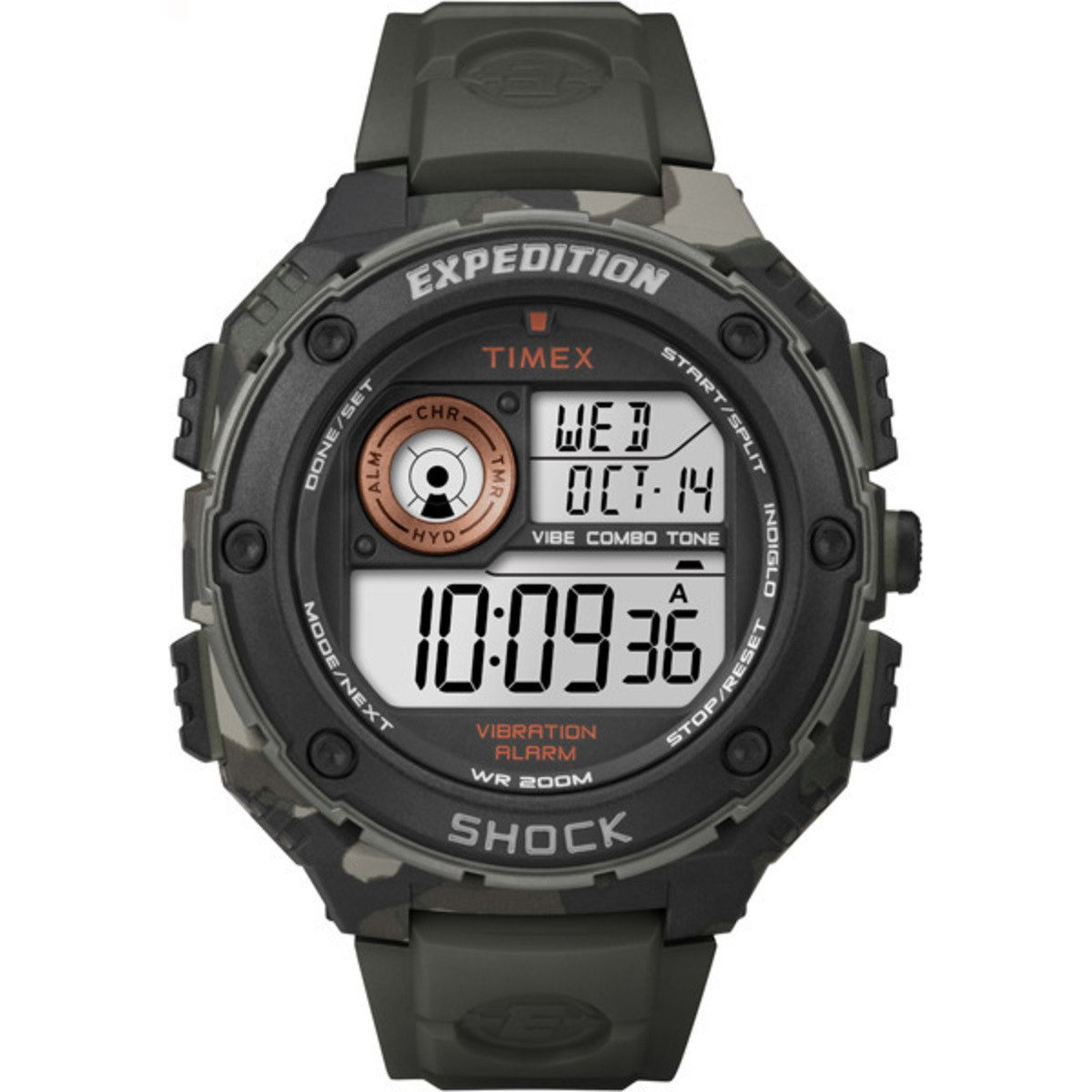 b386bb56206a Amazon.com  Timex Expedition Vibe Shock Watch - Camo  Health   Personal Care