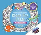 img - for Color for Calm All Year Long 2018: Box Calendar with Colored Pencils attached to Base book / textbook / text book