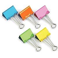 Rapesco FBC19COL Foldback Clips - 19 mm Assorted Colours [Pack of 10]