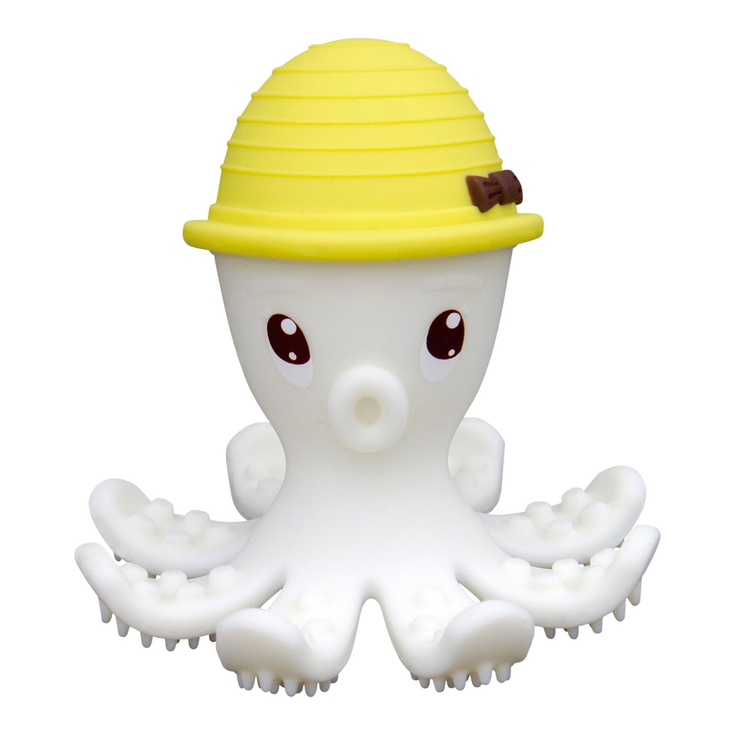 Toothbrush and Gum Massager Different Textures Stimulate Senses Sensory Bath Toy BPA Free Soft and Safe Silicone Baby Teether Toy Ltd 3 Months Dongguan Phushen Baby Products Co P8034 Mombella Ollie the Octopus