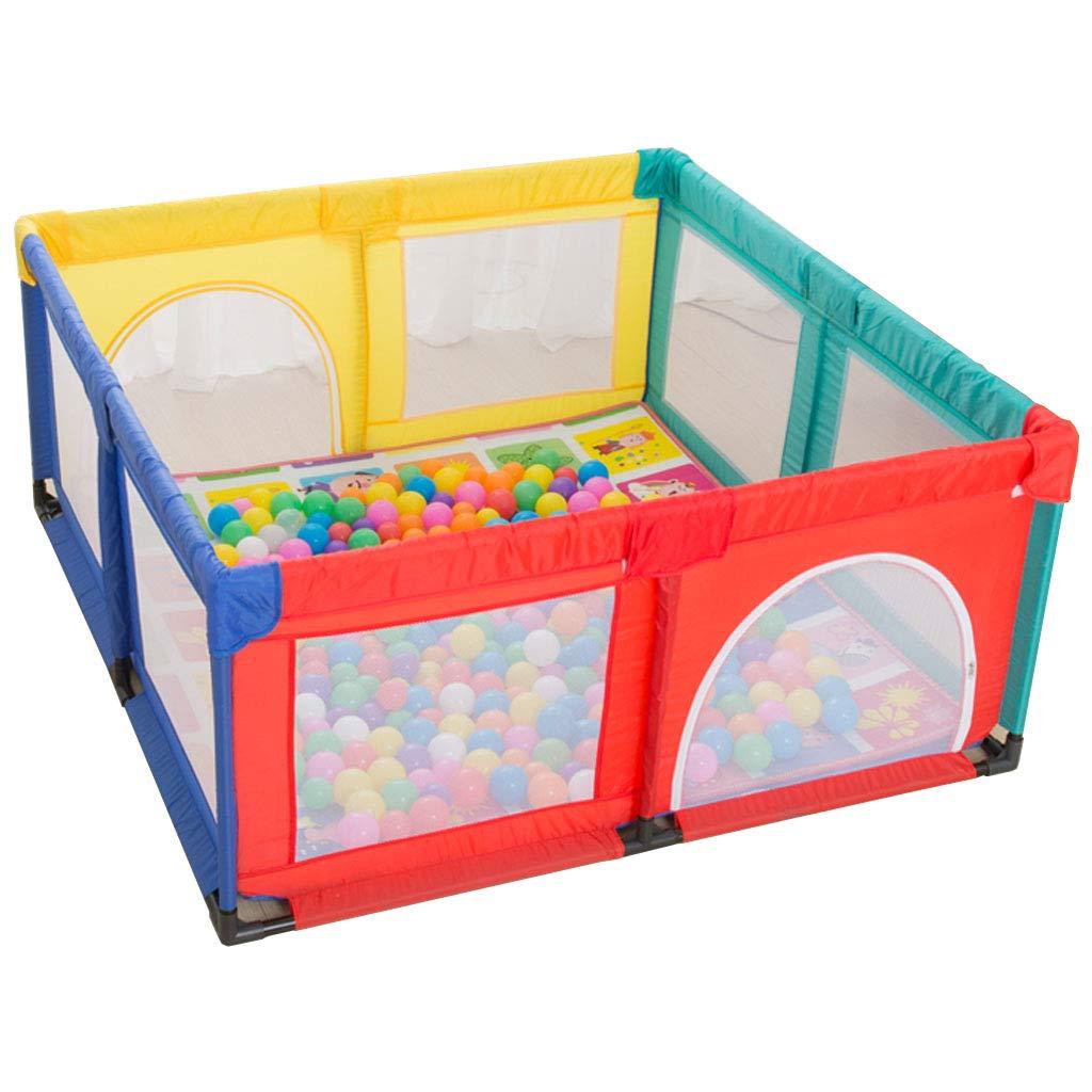 Play per Bambini con Box Grande recinto di Capretto Protettivo per Bambini Indoor Baby Playards Sicurezza per stuoia strisciante per Parco Giochi Recinzione Anti-Caduta Penna per Giocare con pallin